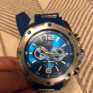 Invicta watch with blue silicone band